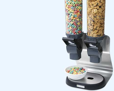 Sleek New CerealServ Dispensers