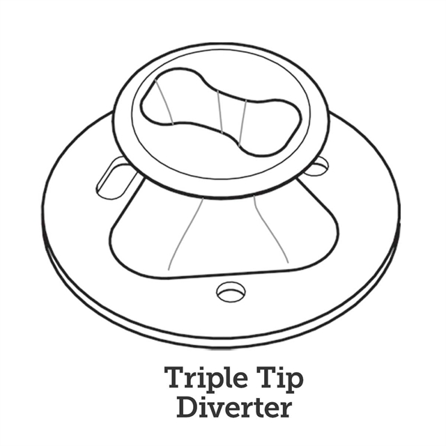 100105 Flow Diverter, Triple-Tip - Line