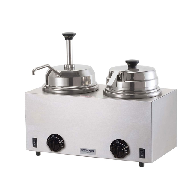 Twin Warmer With Pump and Ladle | 230V EURO