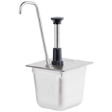 1/6-Pan Pump Tall Spout - Stainless Steel