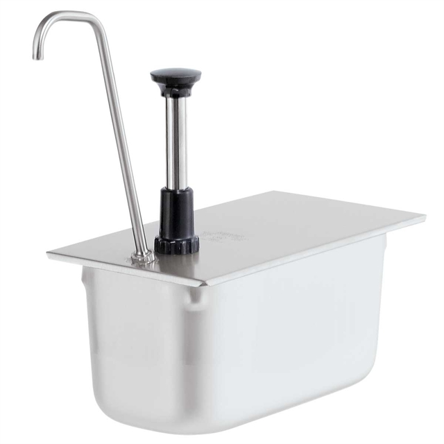 1/3-Size Pan Pump Tall Spout - Stainless Steel