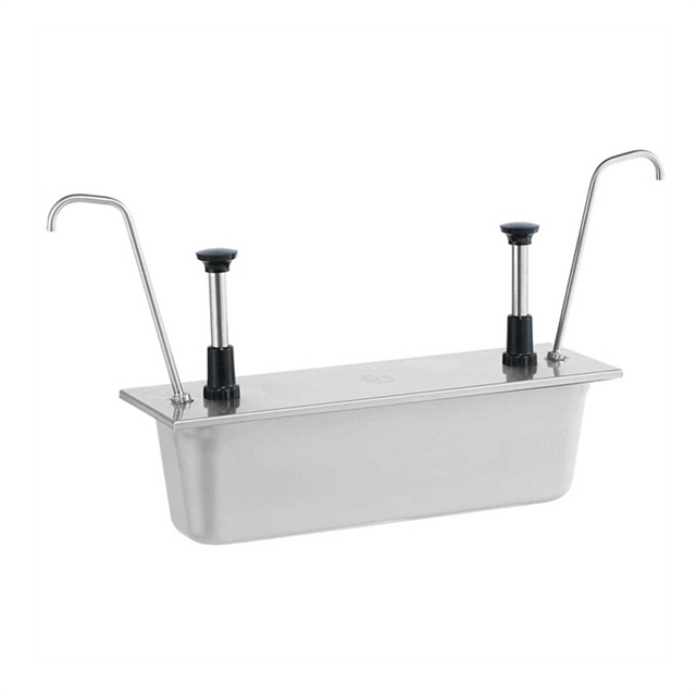 1/2-Size Pan Pumps Twin Tall Spouts - Stainless Steel