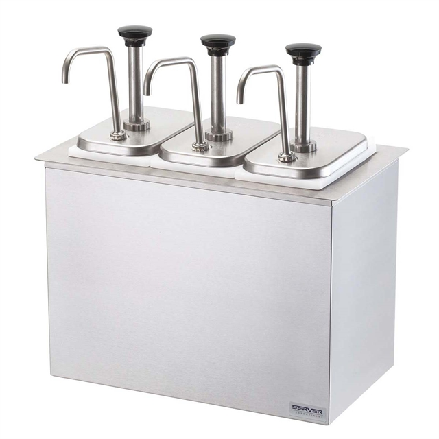 Drop-In Bar Combo (3) Stainless Steel Pumps