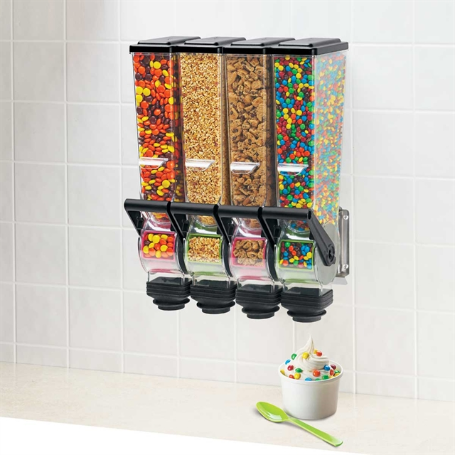 SlimLine Dry Food and Candy Dispenser | Quad 2 L