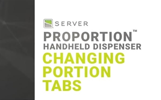 How to Change Portion Tabs and Clean a ProPortion Handheld Dispenser