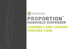 How to Assemble and Load a Pouch with Server's ProPortion Handheld Dispenser